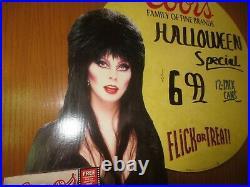 Vtg Halloween Coors Beer Elvira Mistress of the Dark Standee Store Display 1994