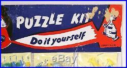 Vtg Pt Plastic Puzzle Keychain Store Display Lot 24 Noc Tank Cannon Race Car ++