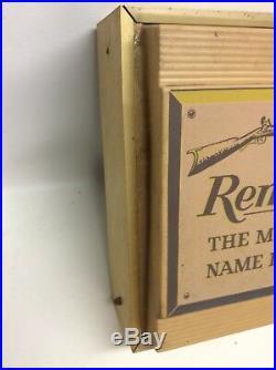 Vtg Remington Gun Shop Dealer Advertising Store Display Clock Sign