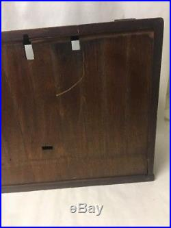 Vtg Slant Front Wood Glass Country Store Display Case Showcase Counter Top