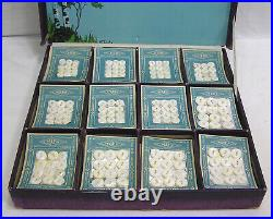 Vtg Store Display American Maid PEARLS Buttons NA Lady in Canoe Gorgeous Lake