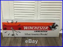 Vtg Winchester Ammunition Everbrite Store Clock Lighted Sign 1994 Dealer Display