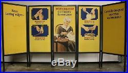 WINCHESTER Store 2-side Advertising 5-Panel Set Display Poster Baseball & Knives