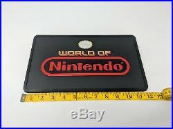 World of Nintendo NES SNES Store Super Display Sign Promo Promotional VTG