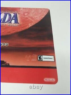 Zelda Majora's Mask Nintendo 64 N64 Counter Mat Sign Promo Store Display VTG